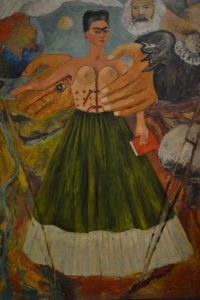 Oleo de Frida Kahlo sobre las sensaciones