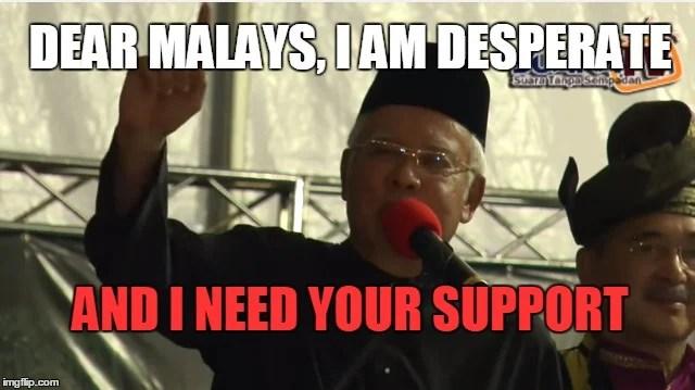 Image result for Racist Najib Razak