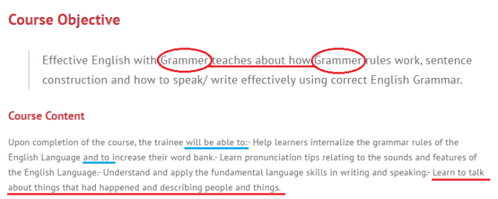 Skillsfuture Course On Grammar Ironically Has Website With Bad Grammar And Spelling_MISTAKES