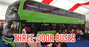 three door bus