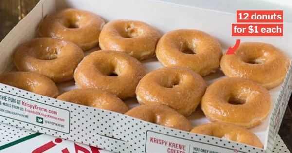 12 For $12 Krispy Kreme Glazed Doughnuts Returns On 21 Aug After 3-Month Hiatus