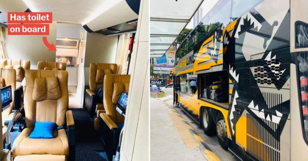 S'pore To M'sia Coach With Hot Meals, Charging Points & Toilet Is Like First Class Flight On Wheels