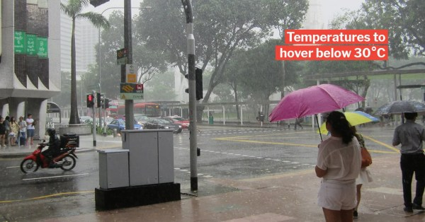 Rainy Weather In S'pore Till Mid Jan 2020 Means We'll Have A Wet Christmas This Year