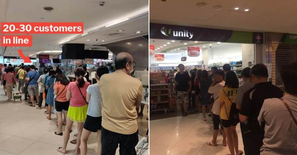 Lot One Shoppers Queue For Surgical Masks Because Of Wuhan Virus, Could Only Buy 10 Each