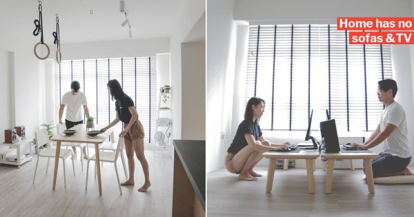 S'pore Couple's Minimalistic 3-Room HDB Is So Neat It Will Make Marie Kondo Proud