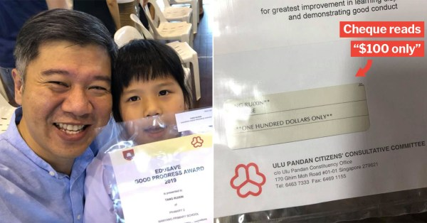 """S'porean Girl Says Award Is No Big Deal As It's """"$100 Only"""", Turns Out She Was Reading The Cheque"""