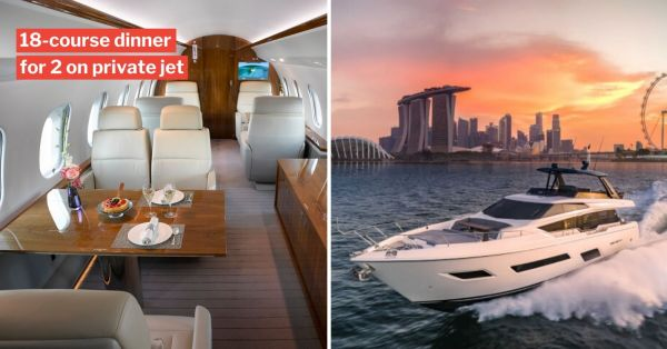 S'porean Couple Spends $2 Million On 18-Course Dinner Aboard Private Jet & Yacht For A Good Cause
