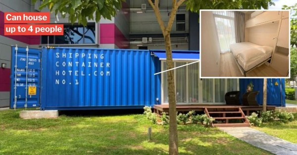 S'pore Shipping Container Hotel Is Like A Luxury Tiny House In Quieter Spots Around The City