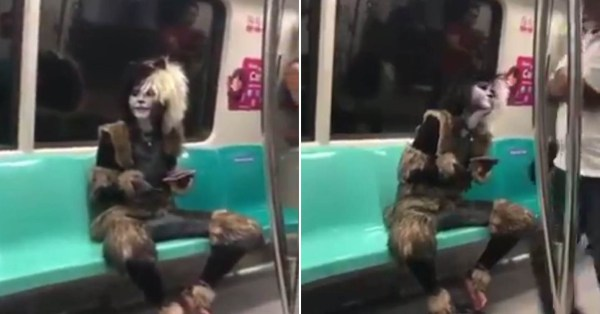 Cat Cosplayer With Extremely Legit Costume Takes MRT, Purrs Like Real Feline At Commuters