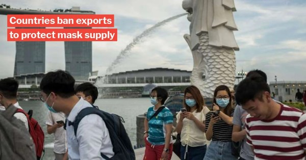 S'pore Has Plans To Mass Produce Face Masks Locally, After Taiwan & Thailand Cut Down Exports