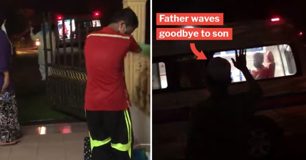 Young Boy With Covid-19 Bids Parents Tearful Goodbye While Walking Towards Waiting Ambulance