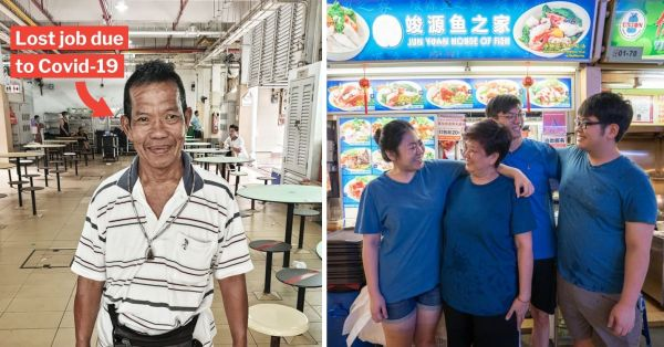 S'pore Hawker Hires Man Who Recently Lost His Job To Deliver Food, Will Give Him $1 From Each Order