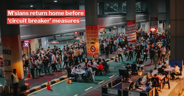 Johor Customs See Long Lines Of M'sians Returning Due To 'Circuit Breaker' Measures In S'pore