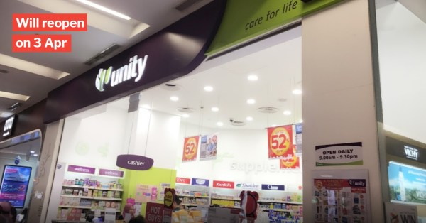 NEX Unity Pharmacy Staff Tests Positive For Covid-19, Premises Will Close For Cleaning Until 3 Apr