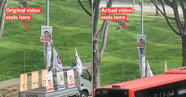 PAP Staff Appears To Put Poster Over WP's, But Misleading Video Was Cut Off Early