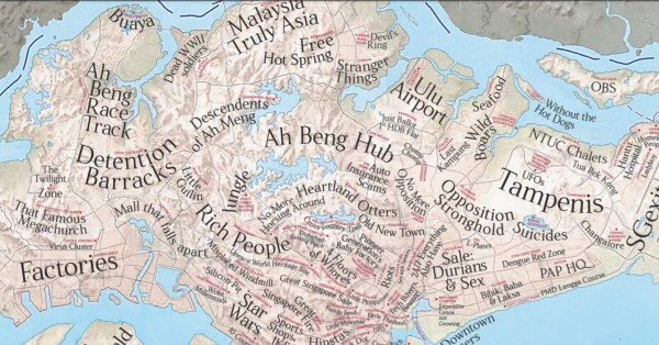 S'pore Unofficial Map Labels Districts For What They Really Are, We Can't Help But Chuckle