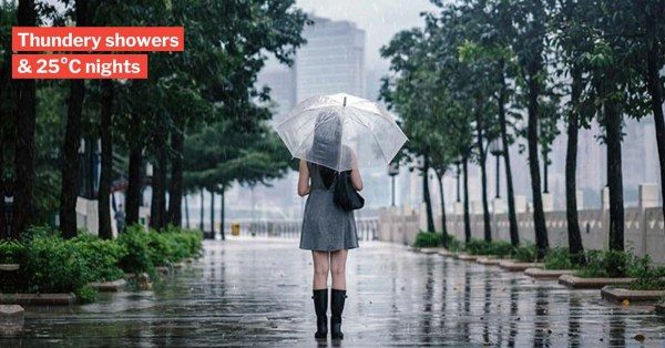 S'pore Skies Will Bless Us With August Rain, After Nights Of Sweaty 30°C Weather