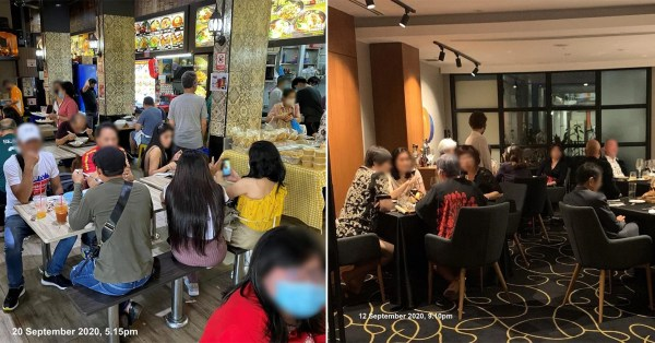 S'pore Authorities Will Fine Diners In Groups Over 5, Even If They're Not Sitting Together