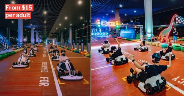 Changi Airport T4 Go-Kart Track Lets You Race With Friends In Real Life Mario Kart Adventures