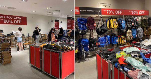 North Face Clearance Sale At Novena Has Up To 90% Off Windbreakers, Shoes & Bags Till 13 Dec