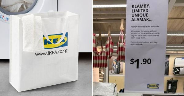 IKEA S'pore Prints Website Wrongly On Cloth Bags, Dubs Them 'Alamak' & Sells For Cheap