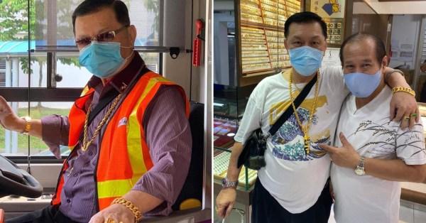 SBS Bus Driver Gets Gold Jewellery From Yishun Shop, Netizens Joke He's Their Walking Ad