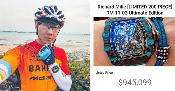 JJ Lin Goes Cycling With The Fam, Netizens Allegedly Spot Him Wearing S$1 Million Watch