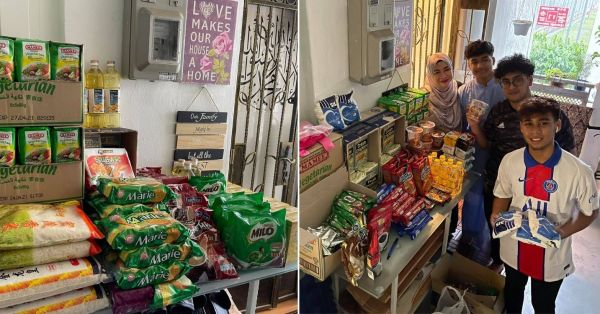Family Turns Front Of Tampines HDB Flat Into A Free Grocery Store For Anyone In Need