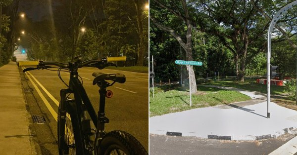 Cyclist Sees Ghostly Figure At Upp Thomson, Driver Flashes Car Lights & Escorts Him