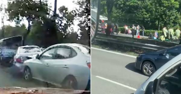 PIE Major Accident Involves 7 Vehicles, 10 People Taken To Hospital