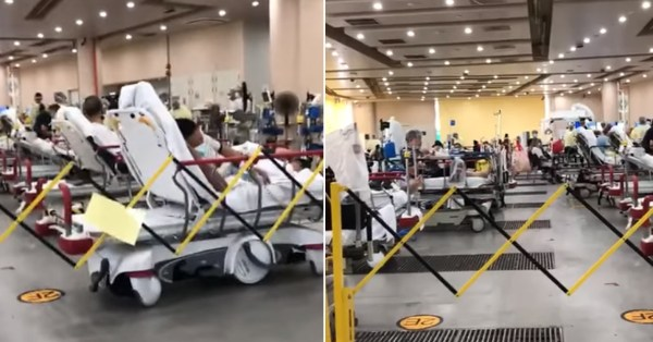 Viral Video Shows Makeshift Area Filled With Hospital Beds, TTSH Only Screens Patients There