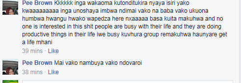 pee brown manyara ziffe comments