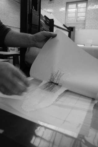 Lifting the print