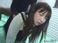 セーラー服姿の早乙女美奈子が首輪を付けられおまんこをレイプされる無理矢理犯している動画