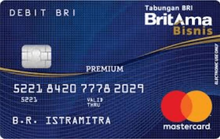 Gambar 2 - Kartu ATM BRI Premium, Britama Bisnis
