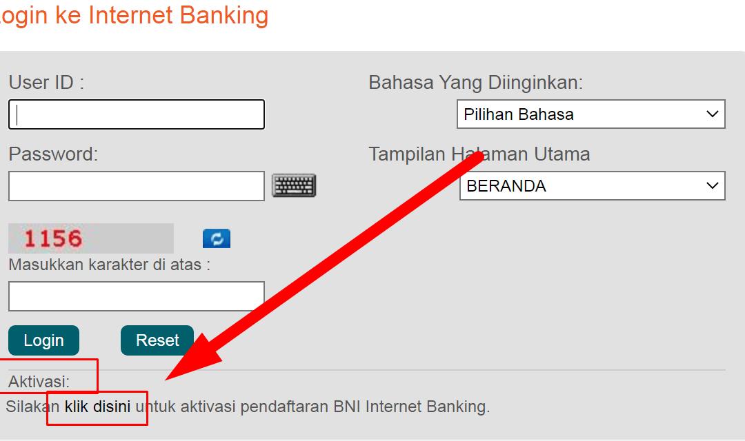 Cara Mengaktifkan Internet Banking BNI dan Sukses Login