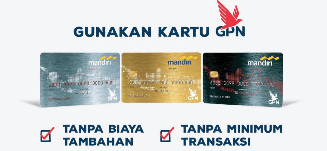 Jenis kartu ATM mandiri GPN