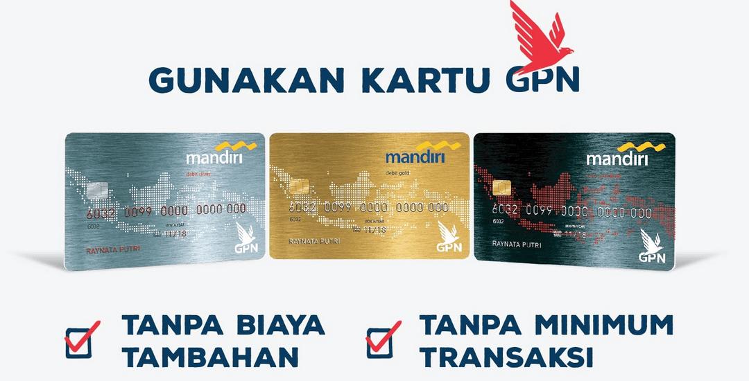 Jenis Kartu ATM Mandiri Chip dan GPN: Silver, Gold, Platinum
