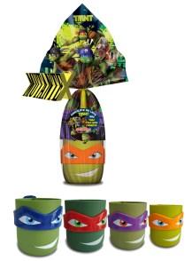 Copos das Tartarugas Ninja para colecionar.