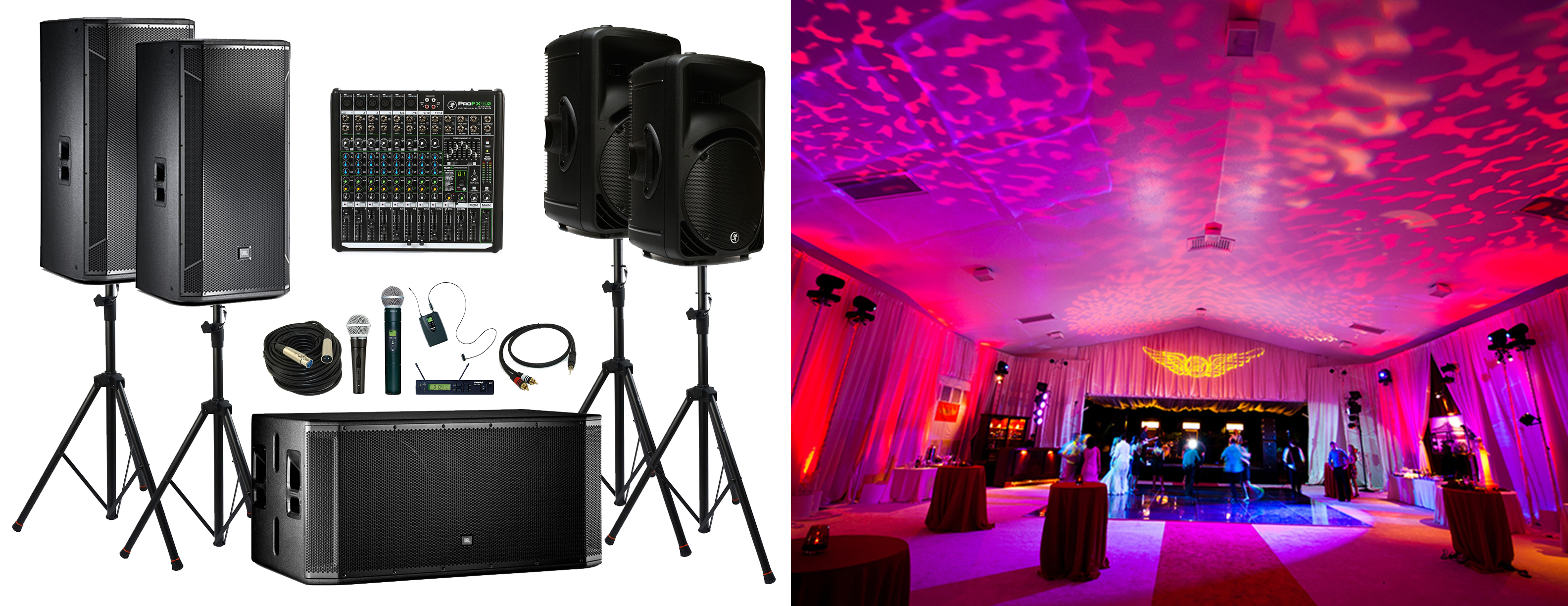 event sound and lighting system rental in kansas city