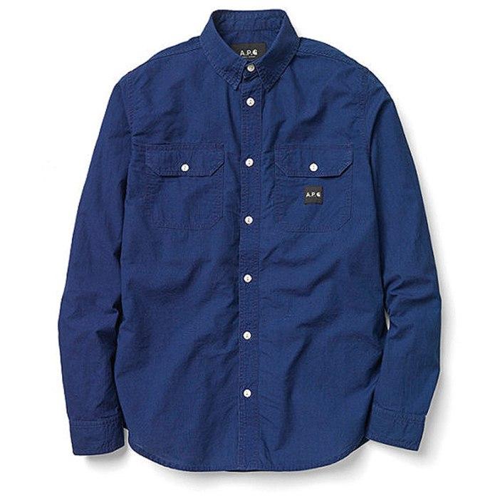 APC-Carhartt-Fall-Winter-2013-Collection-blue-shirt