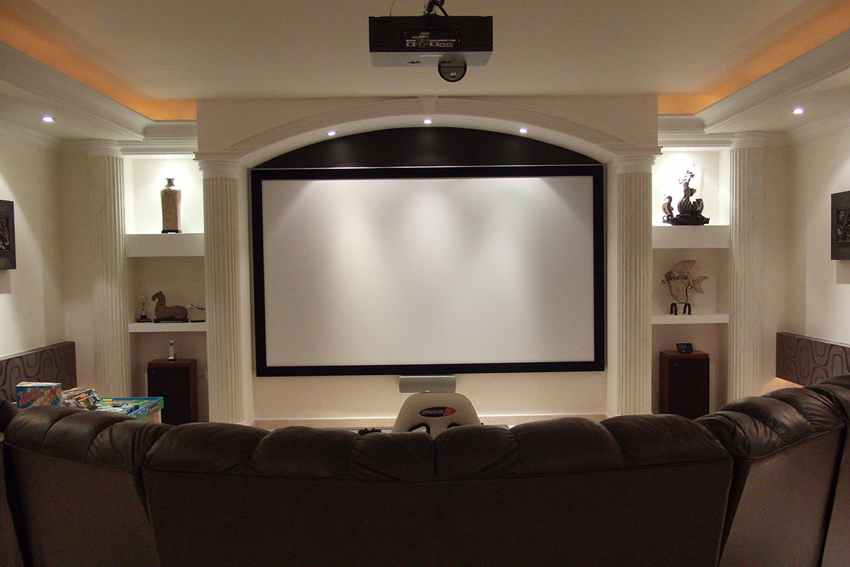 visual apex screen affordable home theater