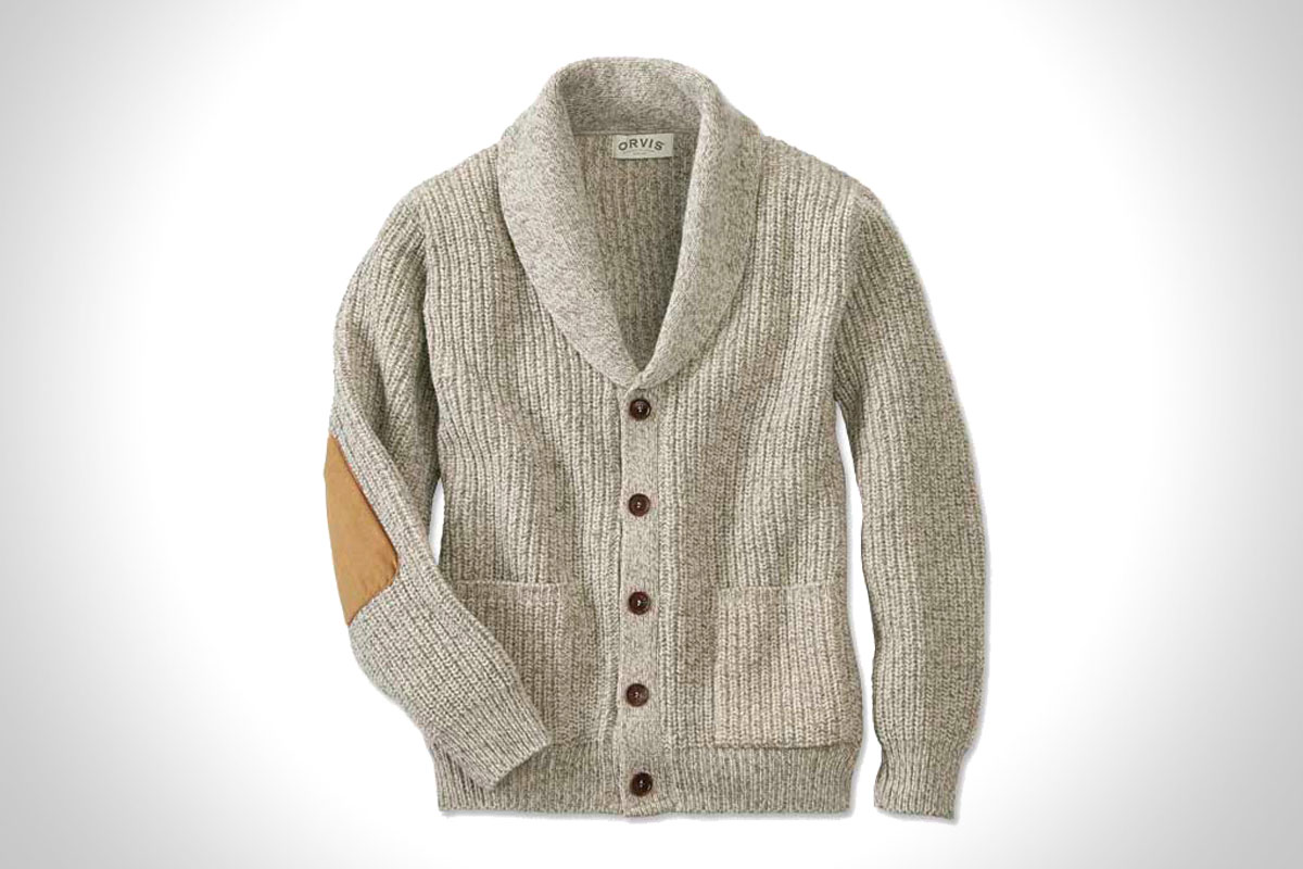 Orvis Wool-Blend Shawl Cardigan