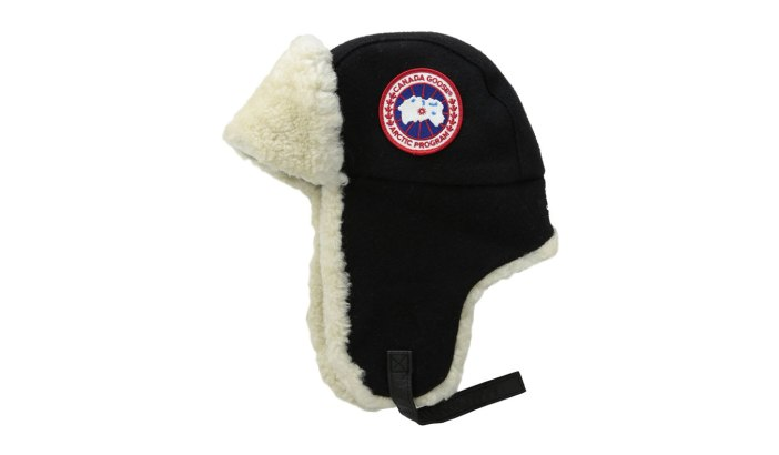 CANADA GOOSE MERINO WOOL SHEARLING PILOT HAT | Extreme Cold Weather Gear