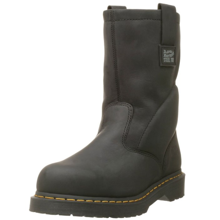 Dr. Martens Iconic Industrial Strength Steel Toe Mens Work Boots   Best Mens Work Boots