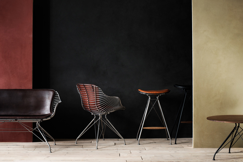 Overgaard Amp Dyrman Wire Bar Stool Muted