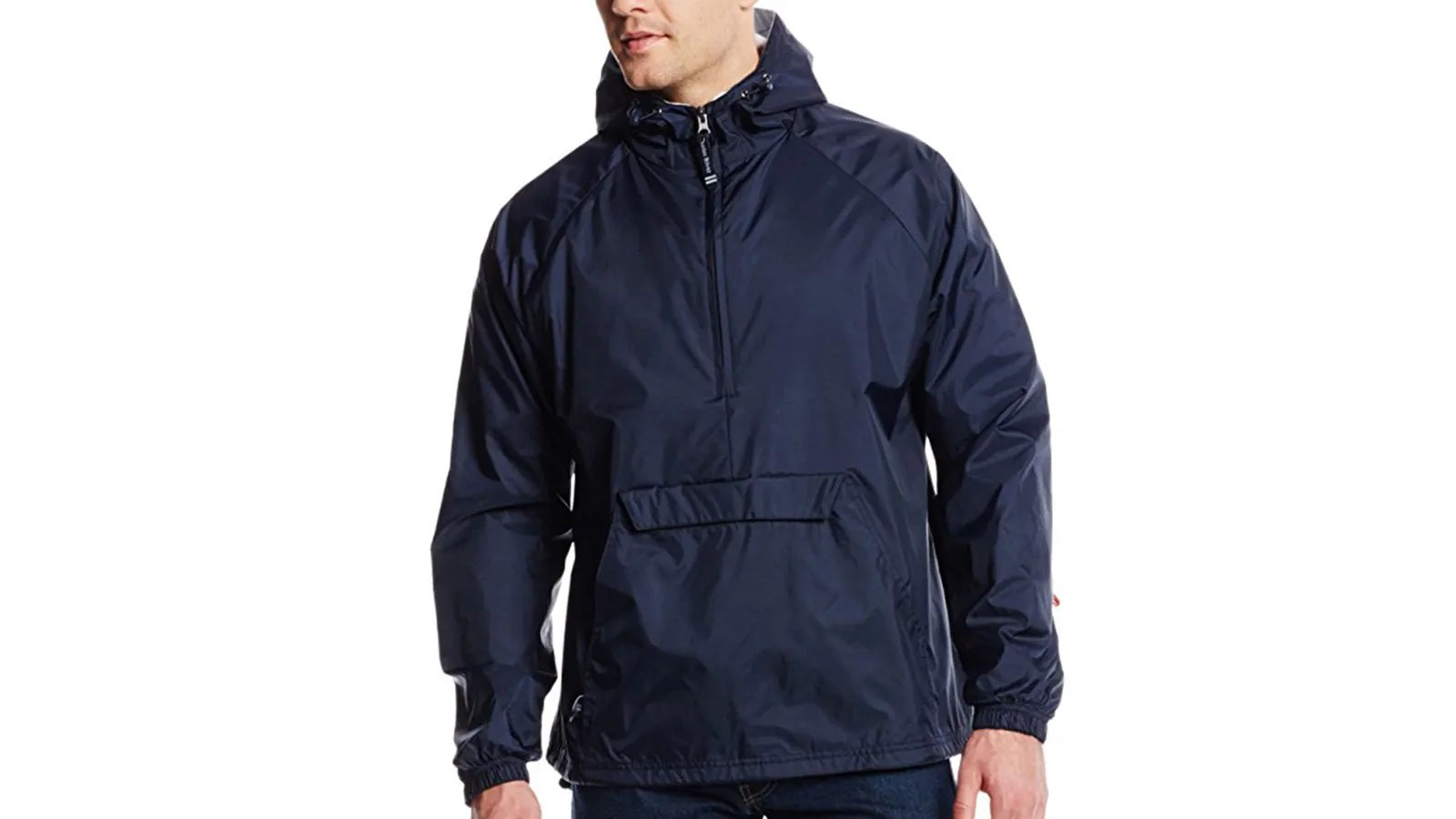 Charles River Apparel Men's Classic Solid Windbreaker Pullover | the best men's windbreakr jackets