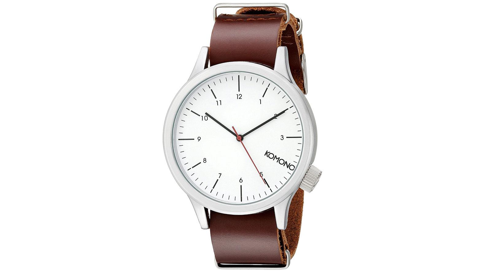 Komono Magnus Quartz Red Watch | best men's watches under $100
