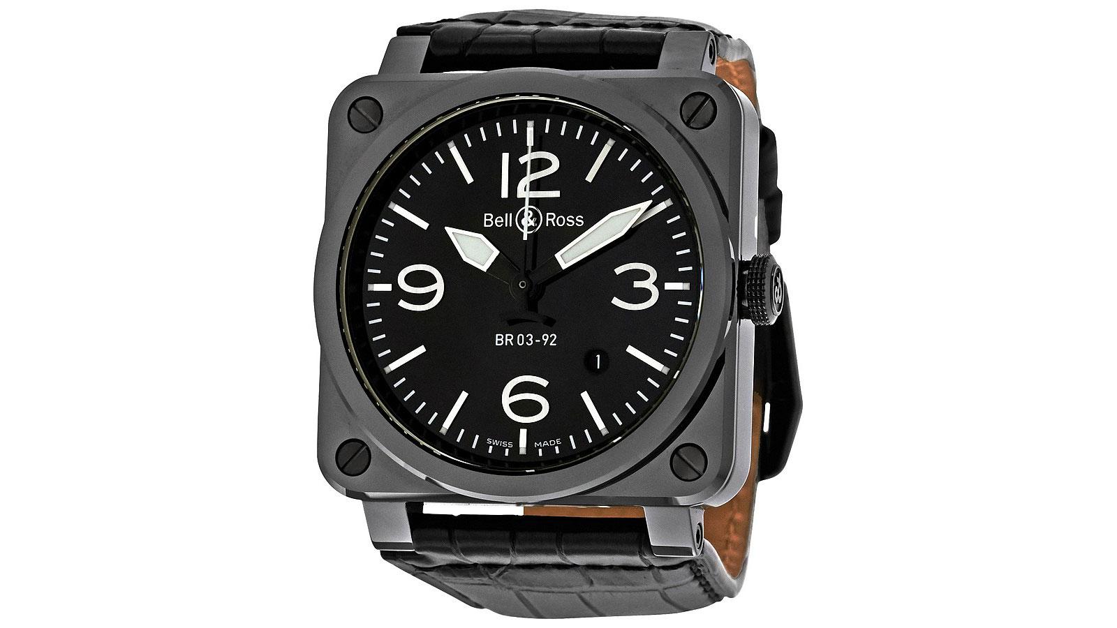 Bell & Ross Aviation Black Pilot Watch   the best pilot watches for men