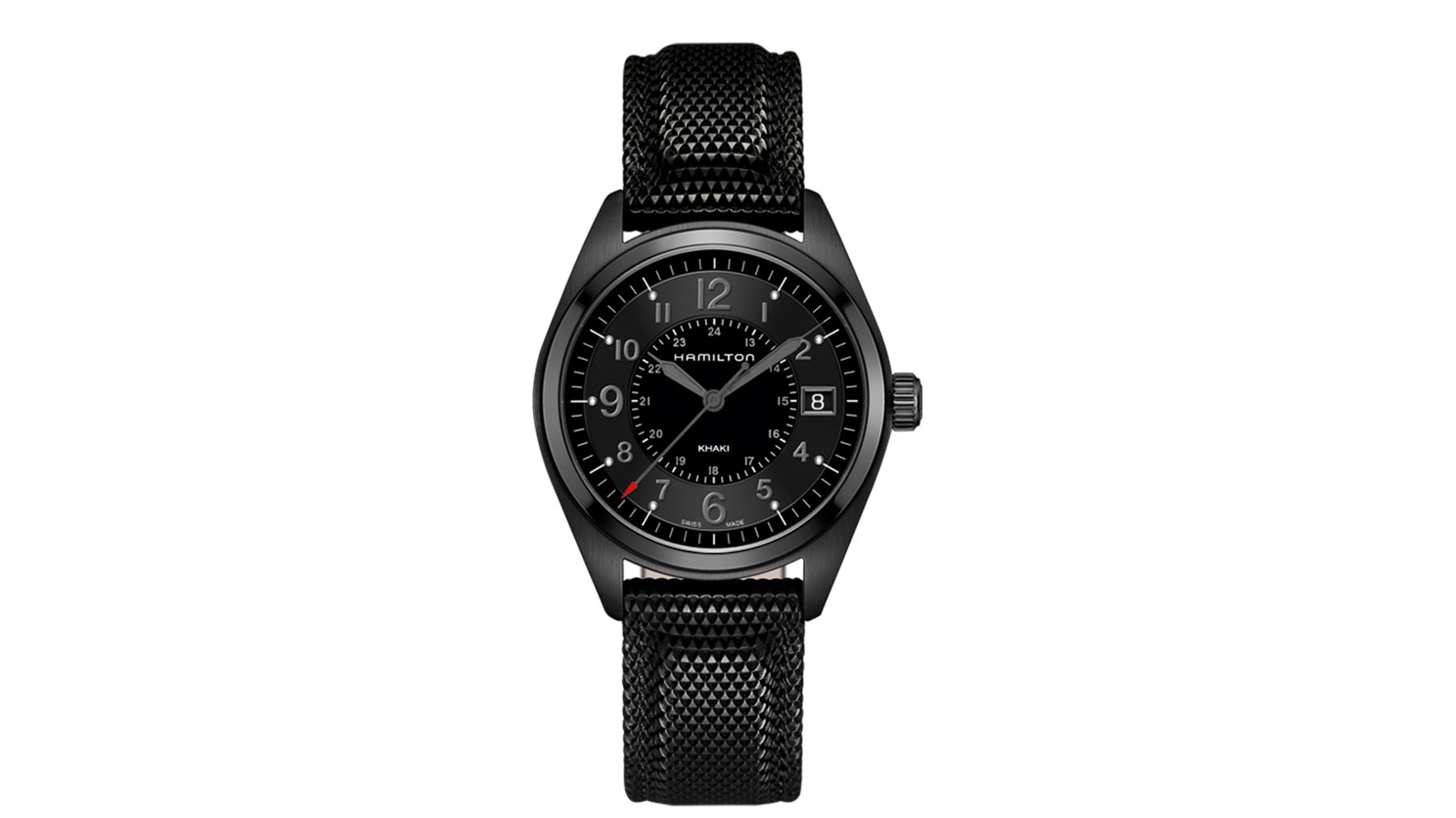 Hamilton Khaki Field Quartz Full Black Men's Watch | best men's watches under $500